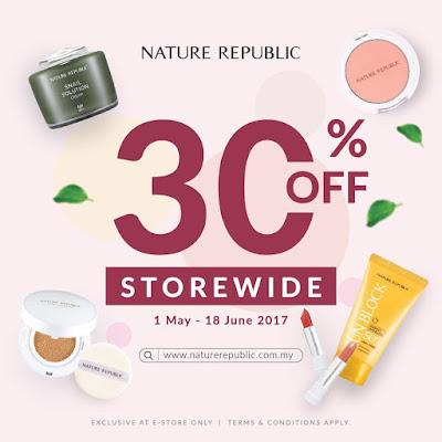 Nature Republic Malaysia Online Store 30% Discount Promo