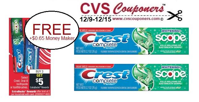 http://www.cvscouponers.com/2018/12/CVS-FREE-Money-Maker-Crest-Complete-Toothpaste.html