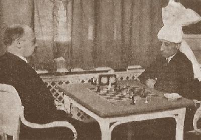 Partida de ajedrez Tartakower frente a Sultan Kahn en 1931