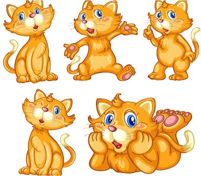 vector de gato tipo dibujo animado