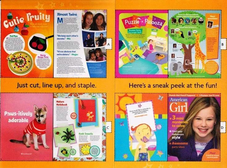 American Girl Doll Worksheets : Living a doll s life printable mini ag magazines