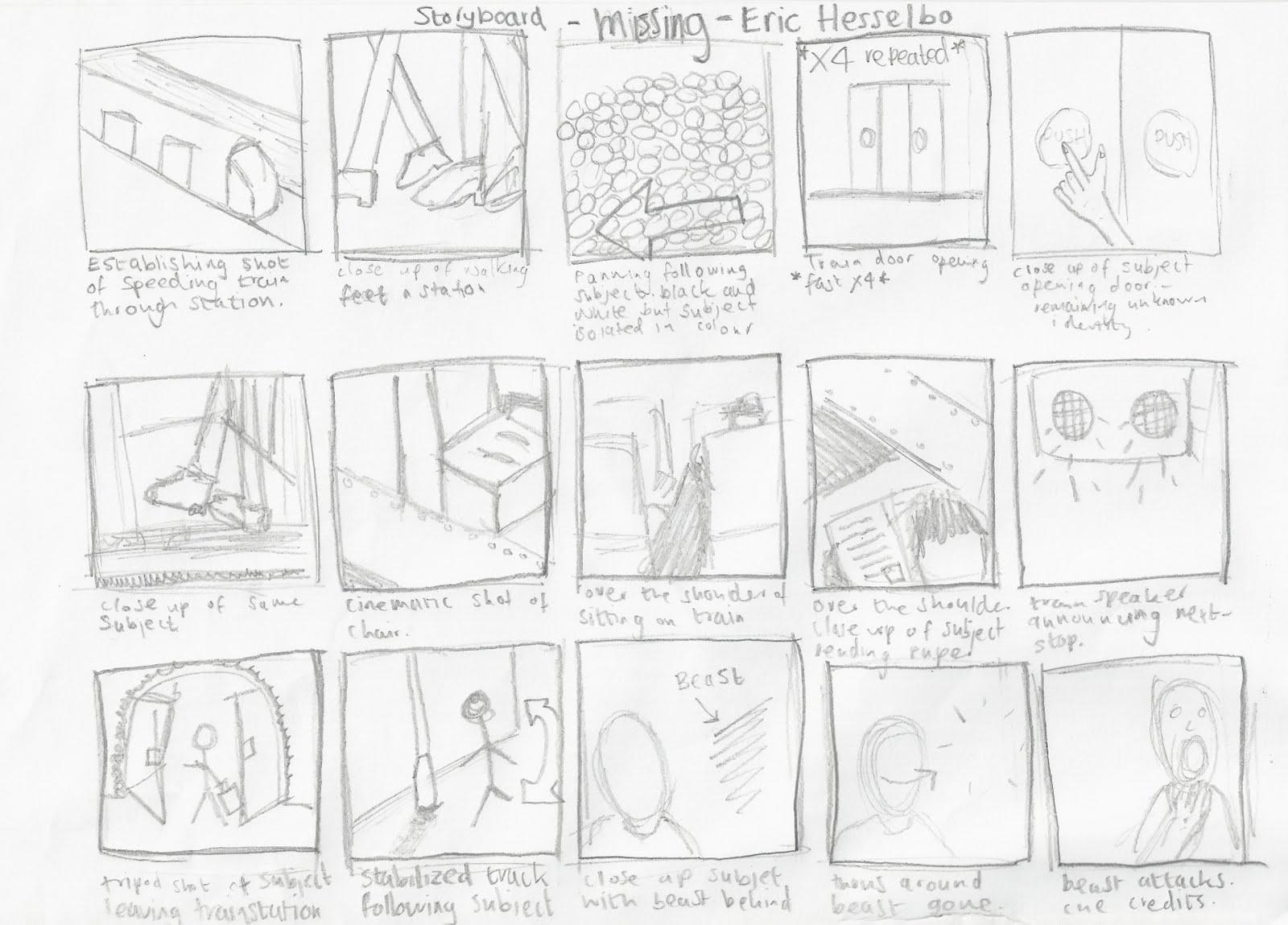 Charlie Guy Cherwell Media Studies: Detailed Storyboard