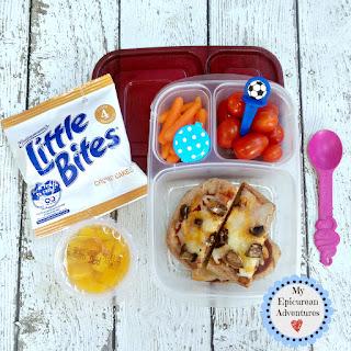 My Epicurean Adventures: Lunch Box Fun 2015-16: Weeks #23-28. Lunch box ideas, school lunch ideas, lunches, naan pizza