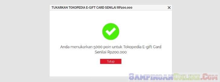 cara penukaran e-gift card tokopedia yougov