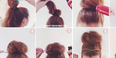 Cotton Candy Bun Hairstyle Tutorial - B & G Fashion