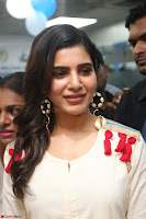 Samantha Ruth Prabhu Smiling Beauty in White Dress Launches VCare Clinic 15 June 2017 039.JPG
