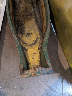 Ecuadorian cholo pescador plank canoe - stern plan view