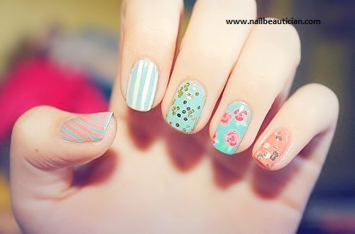Casual nail art