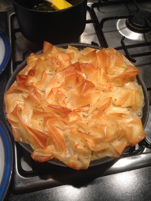 Lucy's Easy Chicken Pie - add sparkle to your dinner table - out of the oven and ready to serve