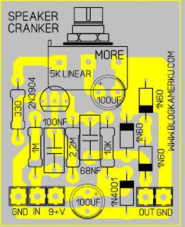 Cara membuat Efek gitar sederhana Speaker Cranker