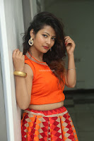 Shubhangi Bant in Orange Lehenga Choli Stunning Beauty ~  Exclusive Celebrities Galleries 014.JPG