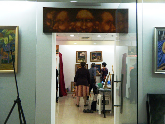 Préparatifs de l'expo de l'atelier artémisia 13