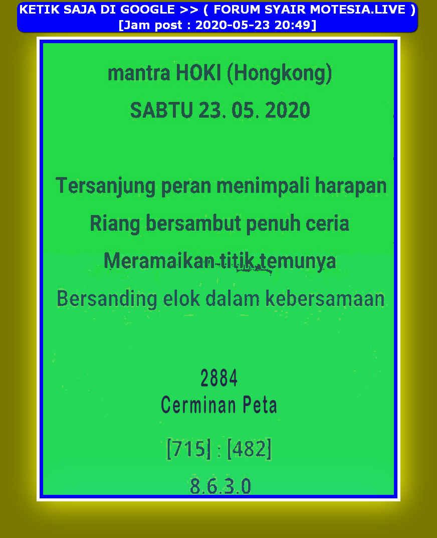 Kode syair Hongkong Sabtu 23 Mei 2020 14