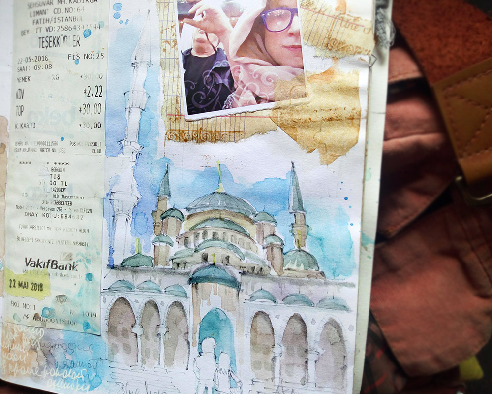 Istanbul sketch sketchbook watercolor travel blog стамбул наброски рисунки