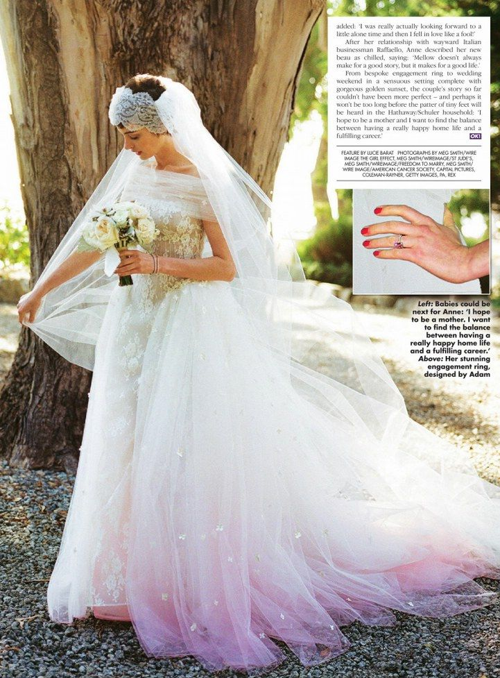 Anne Hathaway Wedding.Anne Hathaway S Bridal Look The Rebellious Brides