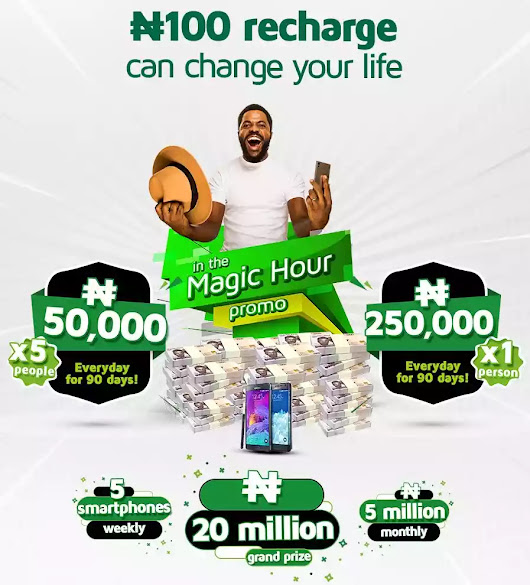 "9mobile ""Magic Hour"" Promo: Recharge N100 and Stand a Chance to Win Amazing Prizes"
