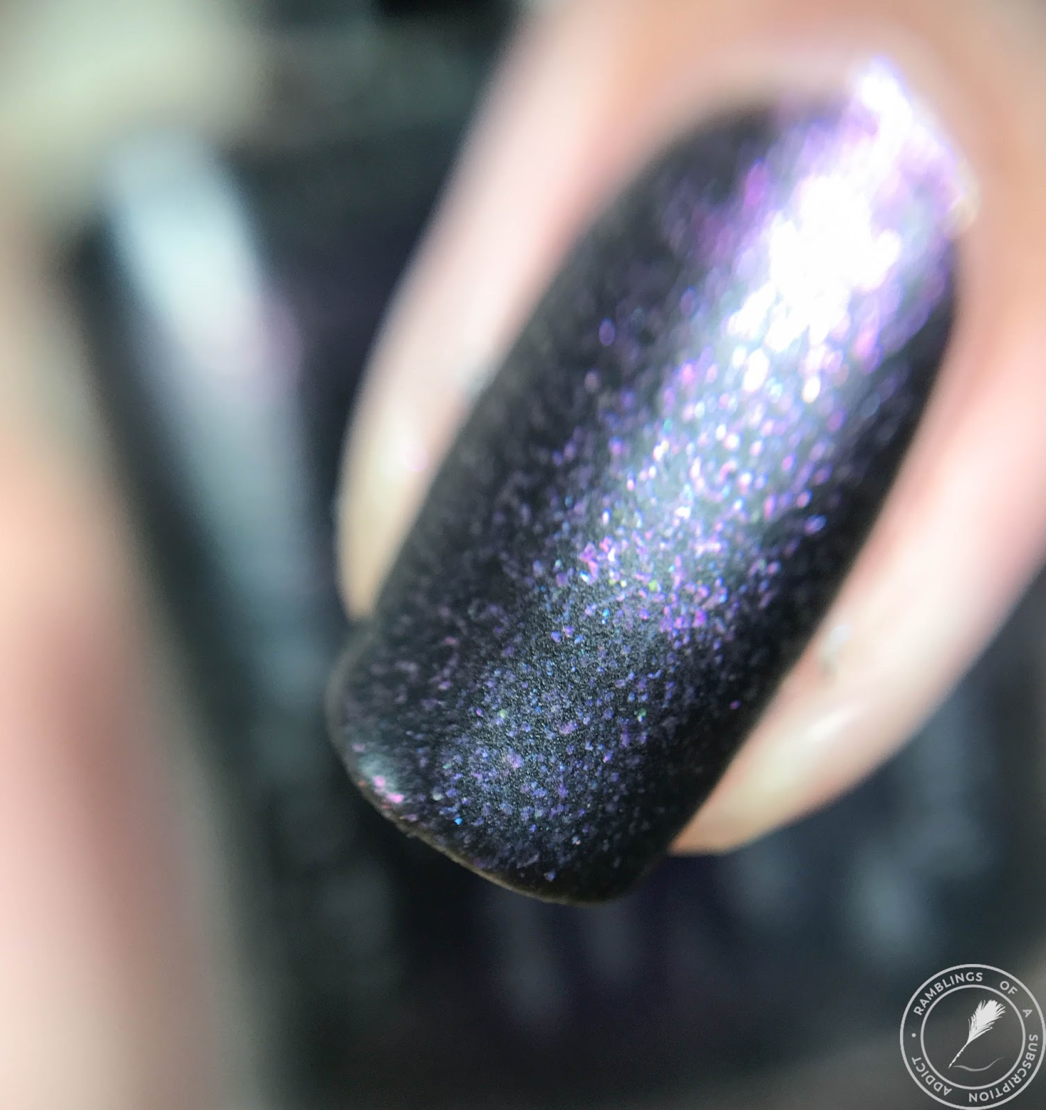 I Wouldn T Call This A Black Polish Think It S Blackened Purple Matte Nail Macro