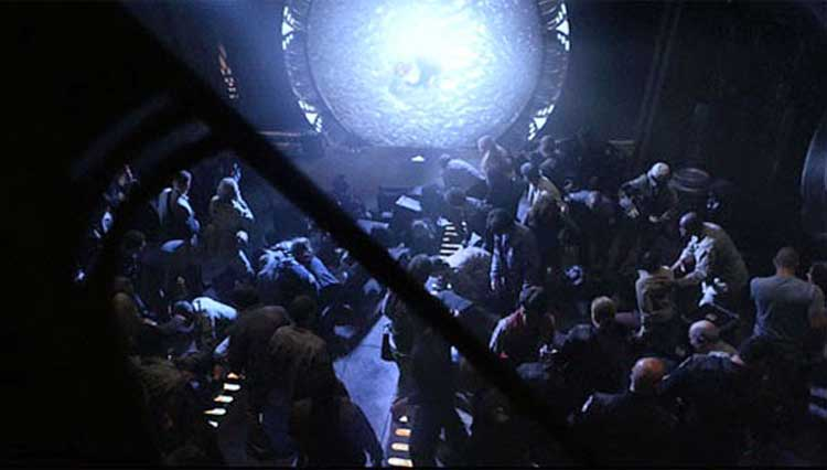 "The opening scene of ""Air"" from SGU"