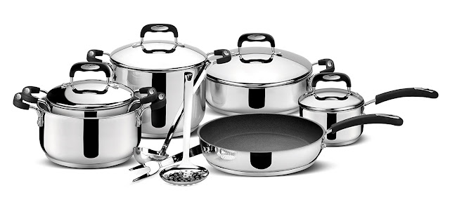 Lagostina Paola Rossi  Stainless steel saucepans