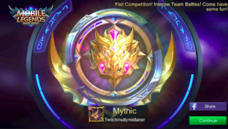 Rank Mythic Mobile Legends