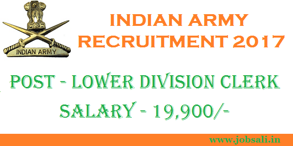 Join Indian Army, Indian Army Clerk Vacancy, Indian Army Jobs