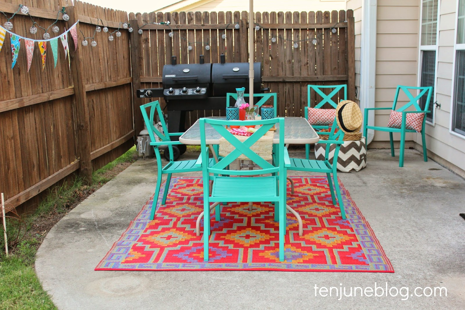 target outdoor dining chairs tall swivel chair ten june colorful patio makeover reveal
