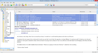 Image shows emails displayed in EML Viewer Pro mail list.