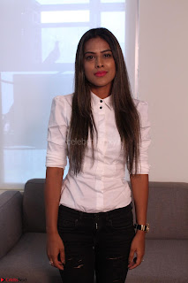 Nia Sharma at an itnerview for For Web Series Twisted 10.JPG