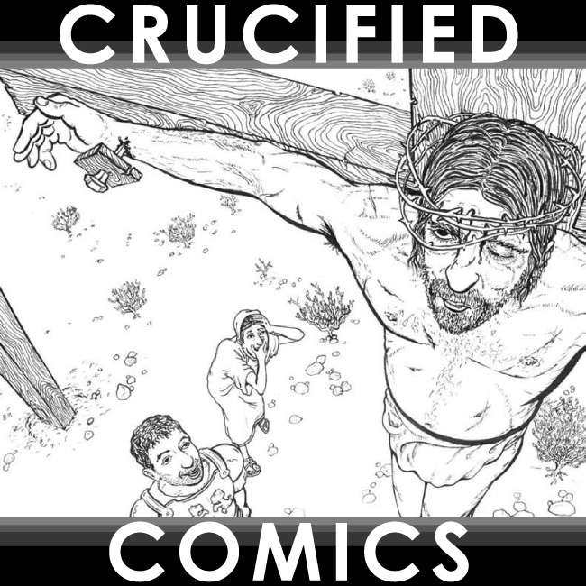 Crucified Comics cover by Joe Chiappetta