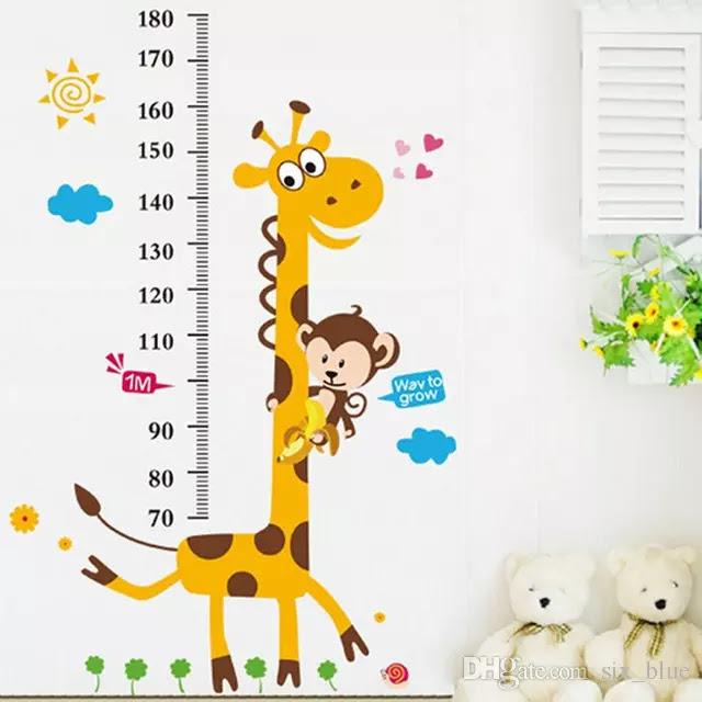 استيكر حائط غرفة اطفال لقياس طول الطفل اثناء نموه