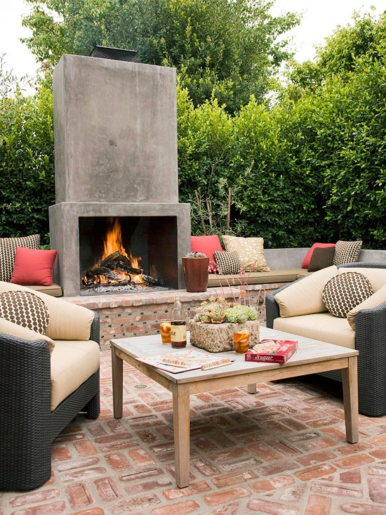 5th and state outdoor living space design part 1 - Outdoor living spaces with fireplace ...