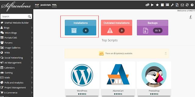 Cara Duplikat Website WordPress Melalui Softaculous Cpanel