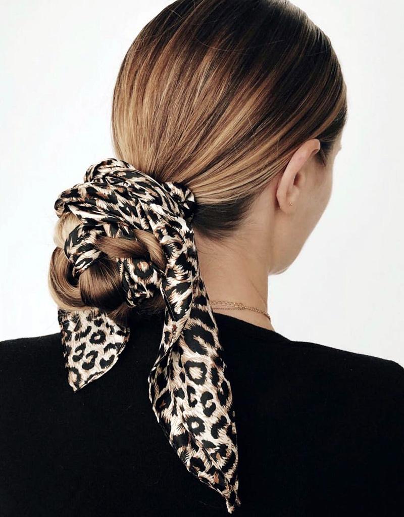 Leopard Scarf Bun
