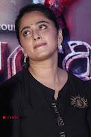 Actress Anushka Shetty Stills in Black Gurthi at Baahubali 2 Press Meet  0005.jpg