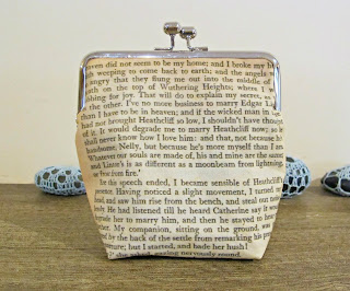 image purse clutch bag handmade domum vindemia wuthering heights whatever our souls are made of his and mine are the same kisslock bridal wedding