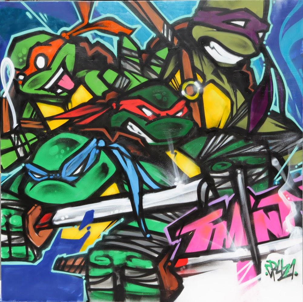 Ninja turtles street art congratulate