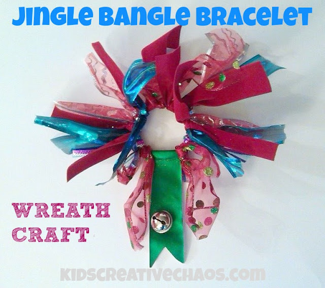 Preschool Bracelet Wreath Craft: Jingle Bangle Bracelet Wreath