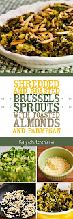 Shredded and Roasted Brussels Sprouts with Toasted Almonds and Parmesan found on KalynsKitchen.com