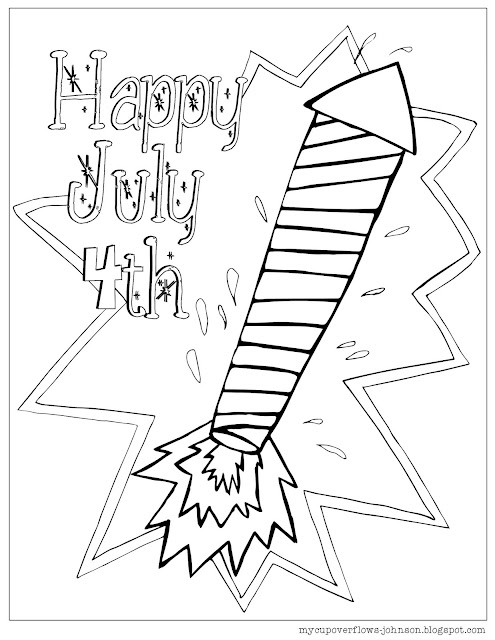 free coloring page for 4th of July Independence Day