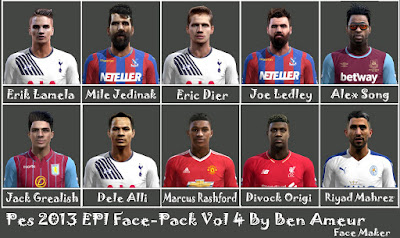Pes 2013 EPl Face-Pack Vol 4 By Ben Ameur