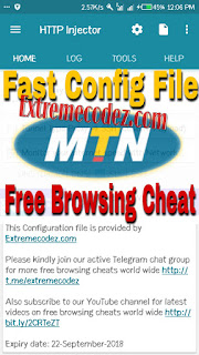 Fast MTN 0 0k Free Browsing Config-File For HTTP Injector