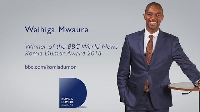 Kenyan Waihiga Mwaura wins BBC World News Komla Dumor award