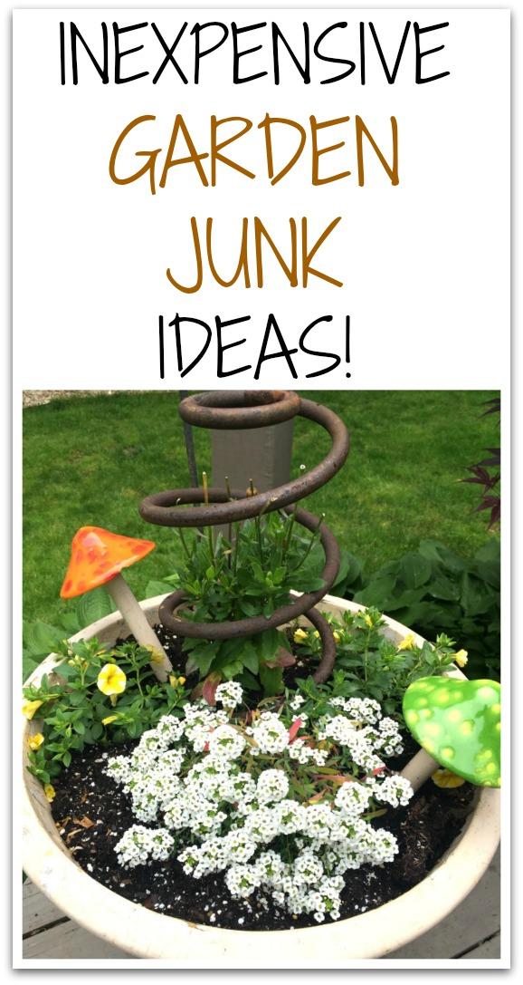 Inexpensive Garden Junk Ideas Homeroad