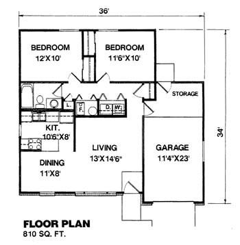 denah rumah type 110 satu lantai