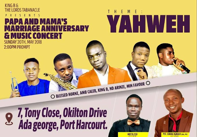 SAVE THE DATE. YAHWEH