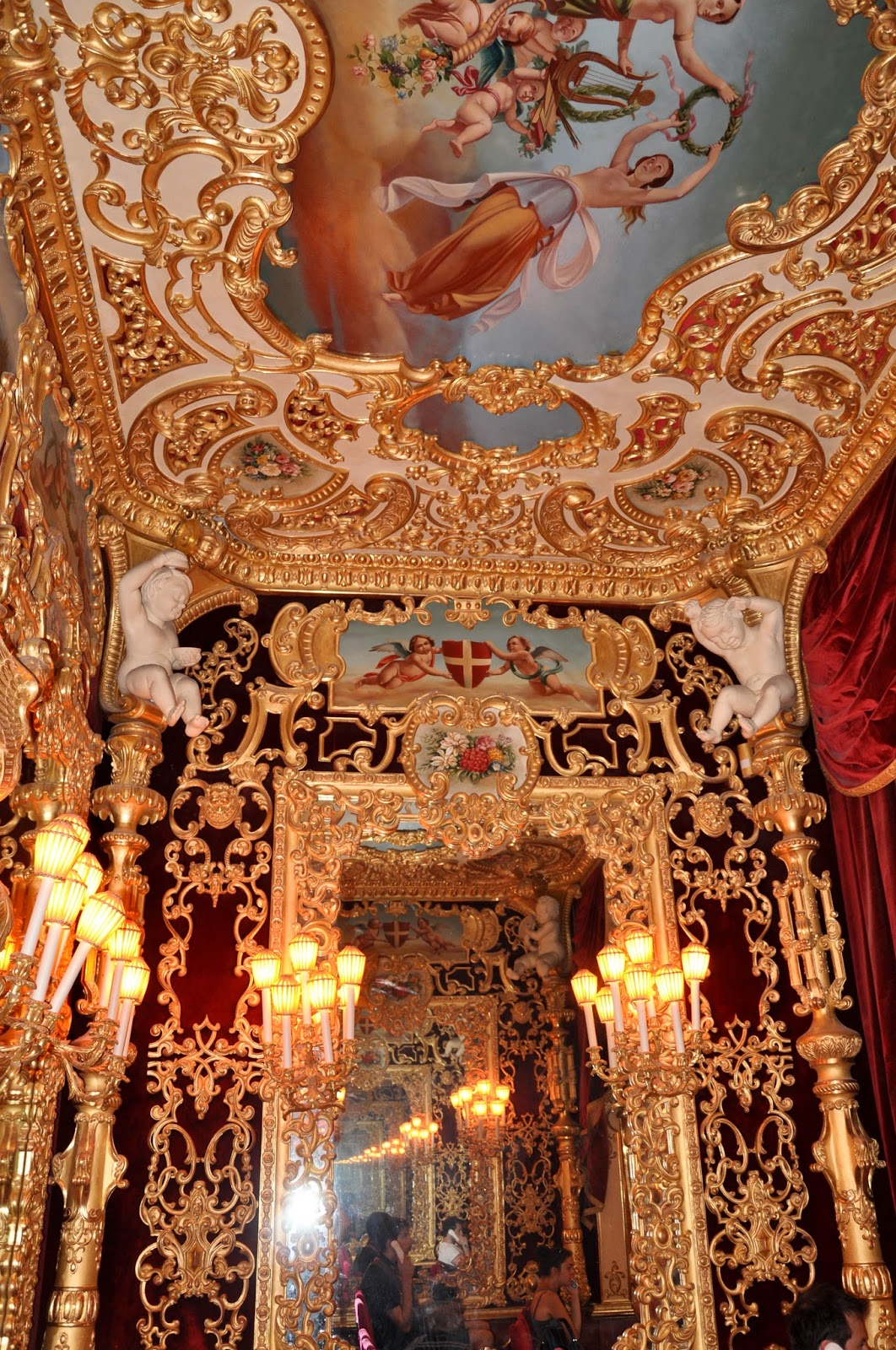 Inside the Imperial box, La Fenice, Venice, Italy