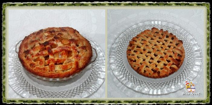 Torta de pêssego com treliça 1