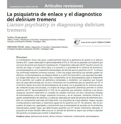 Público los tratamientos del delirium tremens