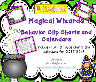 Magical Wizards Behavior Clip Chart and Calendars