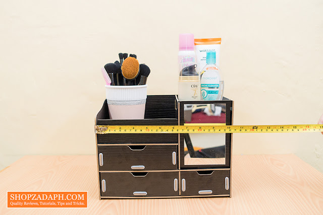 diy wooden makeup organizer actual dimensions